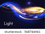 abstract motion light effect.... | Shutterstock .eps vector #568766461
