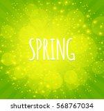 Green Shining Spring Background ...