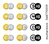 set icon currency converter ... | Shutterstock .eps vector #568770559