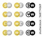 set icon currency converter ... | Shutterstock .eps vector #568774369