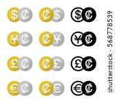 set icon currency converter ... | Shutterstock .eps vector #568778539
