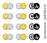 set icon currency converter ... | Shutterstock .eps vector #568782115