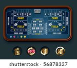 vector craps table layout  big  | Shutterstock .eps vector #56878327