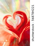 Small photo of Digital blurred background with hearts pictured with spread liquify flow