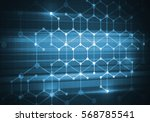 abstract connection structure... | Shutterstock . vector #568785541
