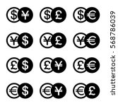set icons for currency converter | Shutterstock .eps vector #568786039