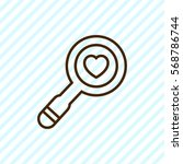 heart search flat icon