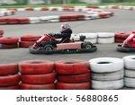 go cart racers struggling at... | Shutterstock . vector #56880865