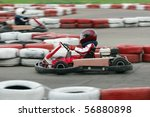 young go cart race on circuit | Shutterstock . vector #56880898