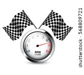 Tachometer With Two Crossed...