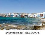 mykonos island seaside little... | Shutterstock . vector #56880976