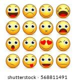 Vector Cartoon Smiley Face Set...