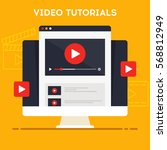 video tutorials icon concept.... | Shutterstock .eps vector #568812949