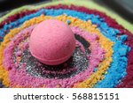 bath bombs  colorful  galaxy... | Shutterstock . vector #568815151