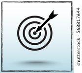 darts target sign icon  vector... | Shutterstock .eps vector #568817644