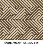 seamless brown and golden... | Shutterstock .eps vector #568827145