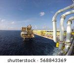 offshore oil   gas field...   Shutterstock . vector #568843369