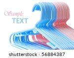 baby clothes hangers in... | Shutterstock . vector #56884387