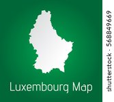 flat luxembourg map white with... | Shutterstock .eps vector #568849669