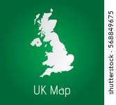 flat united kingdom map white