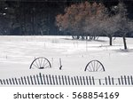 snow fence under the snow | Shutterstock . vector #568854169