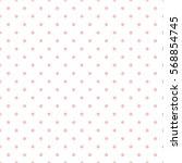 seamless pink polka dot... | Shutterstock .eps vector #568854745