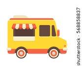 cute retro food truck...   Shutterstock .eps vector #568858837