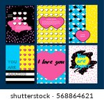 set of vector banners in trendy.... | Shutterstock .eps vector #568864621