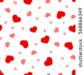 valentine's day vector seamless ... | Shutterstock .eps vector #568866349