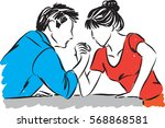 man and woman competition... | Shutterstock .eps vector #568868581