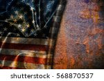 usa flag vintage background | Shutterstock . vector #568870537