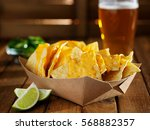 Nachos And Cheese In Tray With...