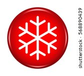 snowflake icon. internet button....   Shutterstock . vector #568890439