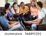 small group. bible study. | Shutterstock . vector #568891531