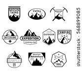 mountain climbing expedition... | Shutterstock .eps vector #568899085