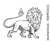 vector image of heraldic lion... | Shutterstock .eps vector #568901611
