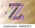 alphabet z icon texture | Shutterstock .eps vector #568904371