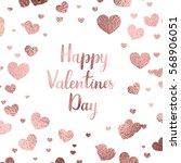 happy valentine's day lettering.... | Shutterstock .eps vector #568906051