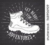 vintage label  grunge textured... | Shutterstock .eps vector #568906909