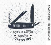 vintage label  hand drawn... | Shutterstock .eps vector #568906939
