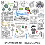 venice italy sketch elements.... | Shutterstock .eps vector #568906981