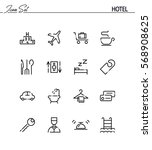 hotel flat icon set. collection ... | Shutterstock .eps vector #568908625