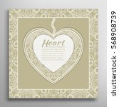 card or invitation with ornate... | Shutterstock .eps vector #568908739