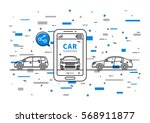 car sharing vector illustration.... | Shutterstock .eps vector #568911877