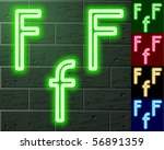 neon transparent characters.... | Shutterstock .eps vector #56891359