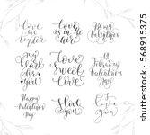set of calligraphic valentine's ... | Shutterstock .eps vector #568915375