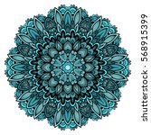 mandala. round ornament pattern.... | Shutterstock .eps vector #568915399