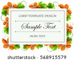 Card Template With Orange...