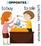 opposite words for buy and sale ... | Shutterstock .eps vector #568915675