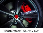 large alloy wheel with of... | Shutterstock . vector #568917169